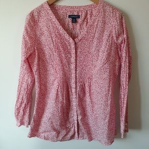 Lands end paisley blouse top S